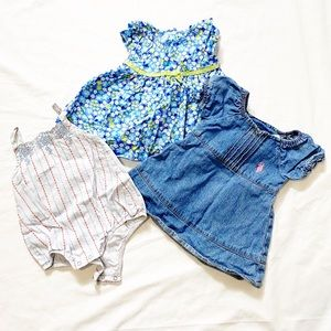 3 for $20 🔥 Three Baby Outfits in Blue Size 0-3M